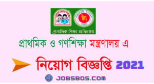 Read more about the article Ministry of Primary & Mass Education Job Circular 2021.