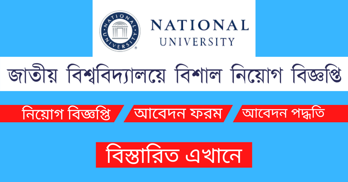 You are currently viewing National University Job Circular 2021